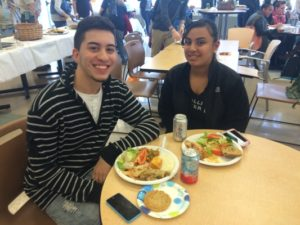 Carlos Ayala and Analis Agosto enjoying their lunch together