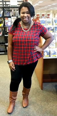 Political Science major Domonique Jackson, wearing some of Fall's latest trends.