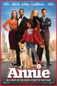 See Annie in theaters, starting Friday December 19!
