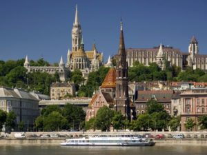 Photo by Jon Hicks/CORBIS. A picture from the Danube River shows some of the castles in Budapest.