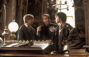 "A different sort of Christopher Columbus, making his own magic on the set of ""Harry Potter and the Chamber of Secrets."" Image retrieved from the Internet Movie Data Base (IMDB)"
