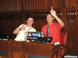 Former interns at the state capital (Photo courtesy of Connecticut General Assembly's web site.)
