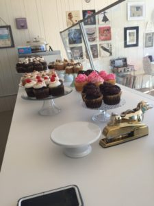 Over 130 flavors of cupcakes can be enjoyed at Wildflour Confections in Seymour. Photo by the author.