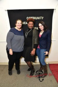 From left to right: Alese Mulvihill, program coordinator, Loretta Ebron, a faculty member in the Community Health Worker program, and Morgan Dancy, program assistant. Courtesy of Expressions to Life.