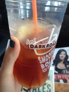This college student runs on Dunkin! Photo by Victoria Tomis