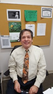 Coordinator Phil Dante in his office (Photo By Kathleen Chaves)