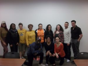 Students in this semester's Study Abroad course, along with Professor Ortiz (front row, center)