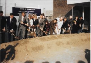1995 Groundbreaking Ceremony for Lafayette Hall. Photo by Eleanor C. Winkel from the Presidents Archive of Housatonic Community College.