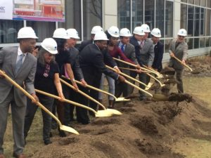 2016 Groundbreaking ceremony for Lafayette Hall expansion. Photo by Eric Vasquez.