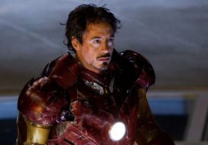 Robert Downey, Jr.  as Ironman.   (Image from Internet Movie Database)