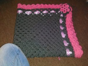 Granny square blanket created and photographed by the author.