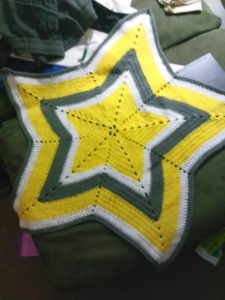 Star blanket created and photographed by the author.