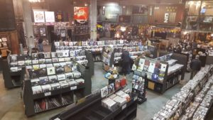 Music lovers browse through Rough Trade Records in Brooklyn looking for their next piece of inspiration.
